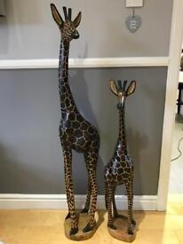 African hand crafted giraffes