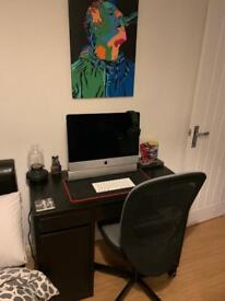 Computer desk & chair - black