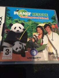 Nintendo DS Game - Planet Rescue - Endangered Island