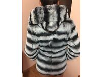 Real Chinchilla Fur Coat new with tags