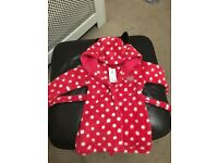 Girls Minnie Mouse Dressing Grown 12-18 Months NEW WITH TAG