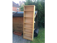 tall but slim billy bookcase beech