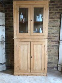 Rustic farmhouse dresser pine display cabinet storage