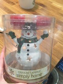 Yankee candle snowman Christmas candles