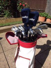 GOLF CLUBS, TROLLEY AND OTHER ITEMS