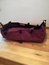 Bugaboo base carrycot, black and purple