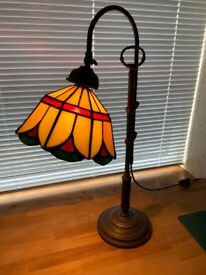Tiffany style stained glass desk light