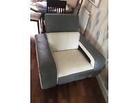 Violin corner leather sofa and armchair