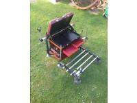 Pole seat box with octoplus mud feet and accessories