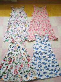 H&M 4 summer dresses size 4-6 years