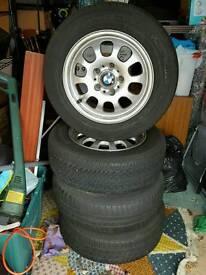 BMW alloy wheel tyres x4