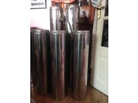 Used log burner flue insulated stainless steel excellent condition