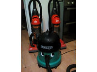 2 VAX and George vacuum cleaners