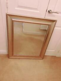 Sliver Brush Style Wall Mirror