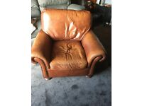 Brown leather armchair free to good home