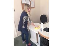 Commercial & office cleaning from £9/h, domestic cleaning services, regular & one-off cleanining