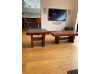 Solid wood coffee table and end table