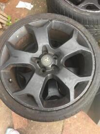 Vauxhall 19 inch snowflake alloy wheels