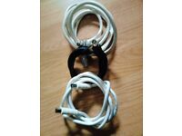 Job Lot of 3 New Aerial Leads Cables in 1.5m and 2.5m Lengths.