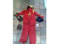 Sailing waterproof jacket, trousers, deck shoes, boots, book and hat
