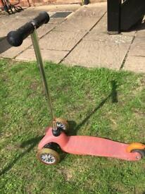 Micro Scooter Pink - used condition