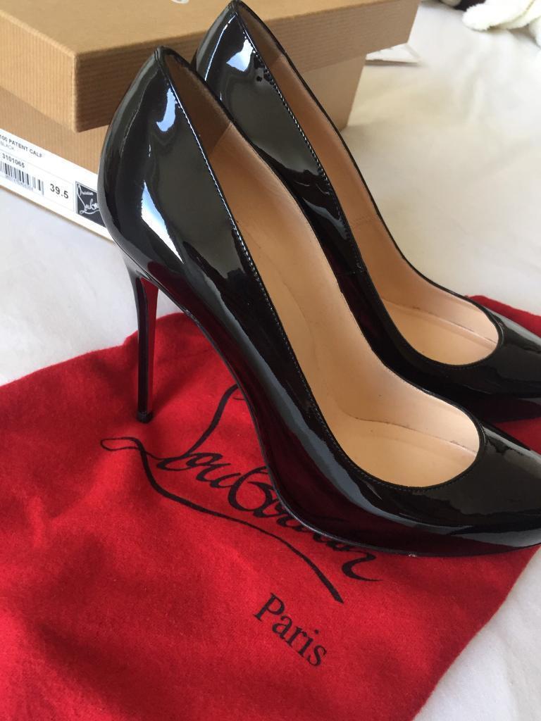 Louboutin black Elsa Patent calf 100 39.5