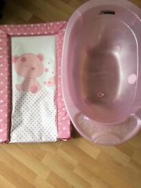 Baby bath and change mat