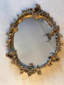 Vintage antique retro mirror shabby chic