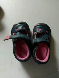 Baby girl shoes. Clark's UK size 3