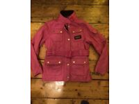 Girls pink Barbour international age 10-11 (l)