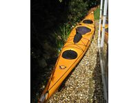 Venture Easky 15 Sea Kayak with spray deck