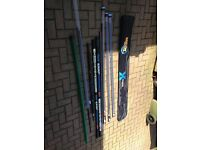 Muddy match range x-series carbon fishing poles