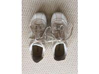 DIESEL ladies white 'babs' trainers size 37