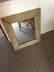 New mirror with rope effect frame