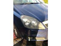Vauxhall zafira b rear lights and drivers head light
