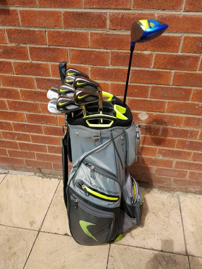 Nike vapor fly Irons/Driver/Callaway wedge set + Bag