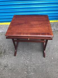 VINTAGE SOLID MAHOGANY TELEPHONE TABLE
