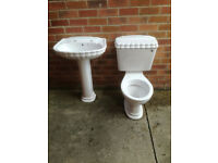 shell design toilet and sink