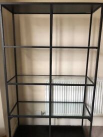 Shelving Unit from Ikea. Glass shelves in good condition.