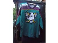 VINTAGE NHL ANAHEIM DUCKS USA ICE HOCKEY SHIRT MAGLIA STARTER