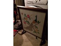 old fire screen/table