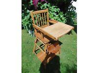 Vintage Metamorphic Highchair