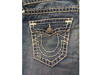 Authentic True Religion Jeans, 32, Mint Condition