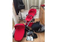 Quinny Buzz Xtra in Red Rumour only 4 months old