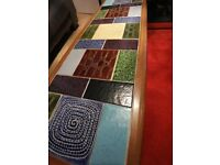 Vintage 1960's coffee table ceramic tiles by Malkin Johnson.