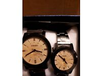 Men & Ladies matching Strada wristwatches with Austrian crystals