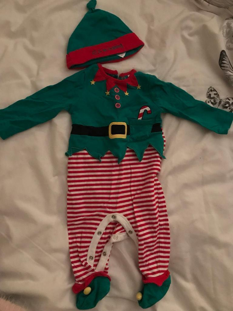 Elf sleepsuit & hat and my 1st Christmas jumper