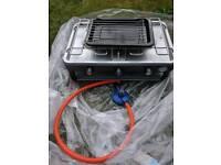 Dual camping gas stove
