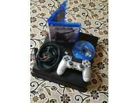 Ps4 500gb 11 series matte black excellent condition with a silver V2 controller + 2 games