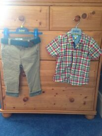 Ted Baker 12-18 months boys shirt and trousers